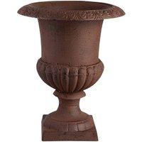 Französische Vase Amphore Gusseisen Antik-Braun 20cm