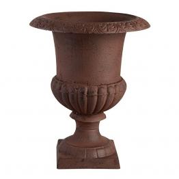 Französische Vase Amphore Gusseisen Braun Antik-Stil 40cm