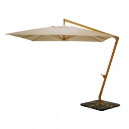 Freiarm-Sonnenschirm aus Aluminium, taupe Camberra