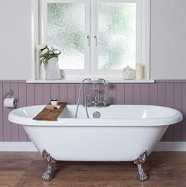 Freistehende Badewanne Wanne Standbadewanne Acryl 1695x740mm weiß - 1