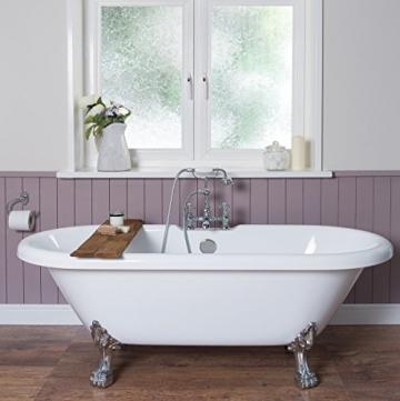 freistehende badewanne acryl wei mit badewannenf en aus chrom. Black Bedroom Furniture Sets. Home Design Ideas