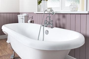 Freistehende Badewanne Wanne Standbadewanne Acryl 1695x740mm weiß - 6