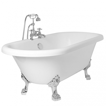 Freistehende Badewanne Wanne Standbadewanne Acryl 1695x740mm weiß - 7
