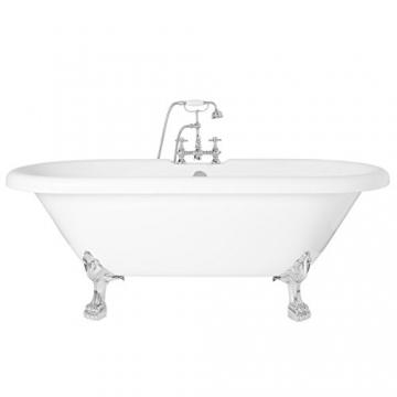 Freistehende Badewanne Wanne Standbadewanne Acryl 1695x740mm weiß - 8