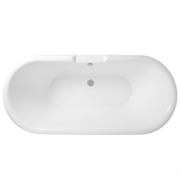 Freistehende Badewanne Wanne Standbadewanne Acryl 1695x740mm weiß - 9