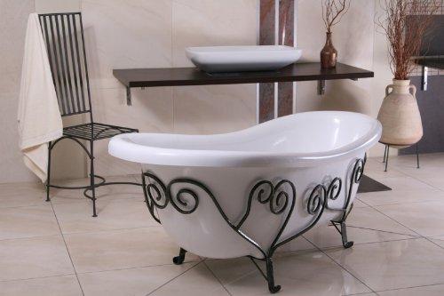Freistehende Luxus Badewanne Jugendstil Mediterran Weiß ...