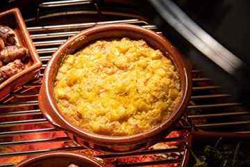 FUMOSA keramische Grillschale Piataci für Grill & Ofen - Cazuela - Tapas Keramik Schale - 2X 18 cm - 2