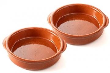FUMOSA keramische Grillschale Piataci für Grill & Ofen - Cazuela - Tapas Keramik Schale - 2X 18 cm - 1