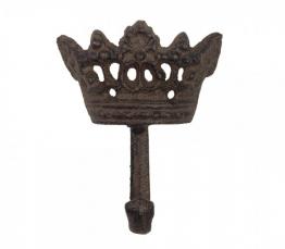 Garderobenhaken Krone Gusseisen Antik-Braun Wandgarderobe 9cm