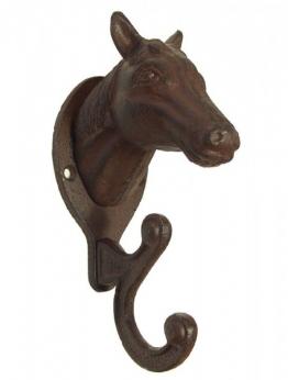 Garderobenhaken Pferd Wandgarderobe Doppelhaken Gusseisen Antik-Stil