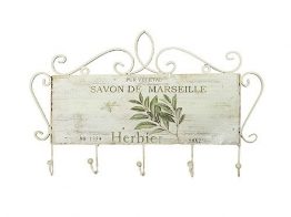 Garderobenleiste SAVON De MARSEILLE Hakenleiste Metall 43cm