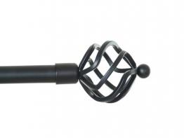 Gardinenstange Spheric von Debel (2719301), aus Metall, Weiß/Gold, 90-160cm, Schwarz, 90-160 cm - 1