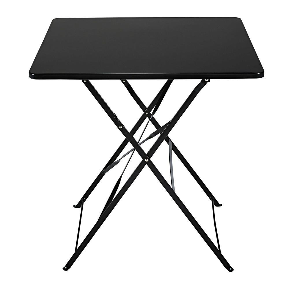 garten klapptisch aus schwarzem metall f r 2 personen shop ambiente mediterran. Black Bedroom Furniture Sets. Home Design Ideas