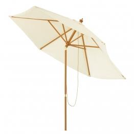 Garten-Sonnenschirm neigbar ecru D 300 cm