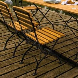 Gartenstuhl aus Robinie Massivholz klappbar