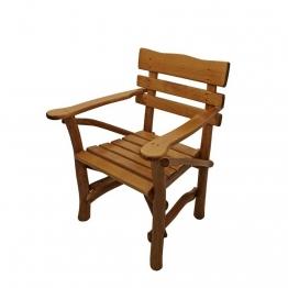 Gartenstuhl mit Armlehnen massiv Holz