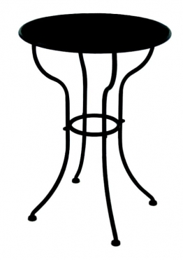 Gartentisch Bistrotisch Beistelltisch INIZIO Metall dunkelbraun, Durchmesser 55 cm