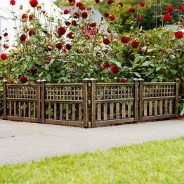 Gartenzaun Hofgarten, 4er-Set