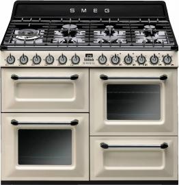 Gas-Elektro-Standherd TR4110PD1 beige, Energieeffizienzklasse: A, Smeg
