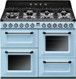 Gas-Elektro-Standherd TR4110PD1 blau, Energieeffizienzklasse: A, Smeg