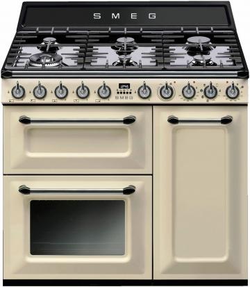 Gas-Elektro-Standherd TR93BLD beige, Energieeffizienzklasse: A, Smeg