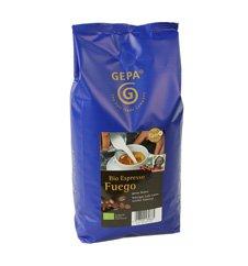 GEPA Bio Espresso Fuego - ganze Bohne - 1 Karton (4 x 1000g) Fair Trade Kaffee - 1