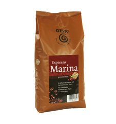 GEPA Marina Espresso ganze Bohne - 1 Karton (4 x 1000g) Fair Trade Kaffee - 1