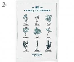 Geschirrtücher Herbs, 2 Stück
