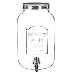 Getränkebrunnen COUNTRY aus Glas, 3,5 l