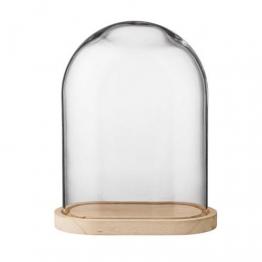Glasglocke mit Boden, H:35 cm
