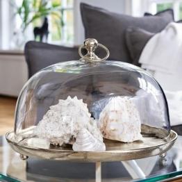 Glasglocke mit Platte Voilá