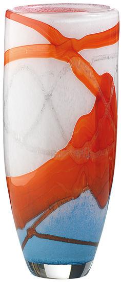 Glasvase ´Linea Rossa´, Version hoch, Glas/Kristall
