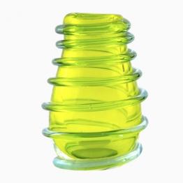 Grüne Murano Glas Vase, 1950er
