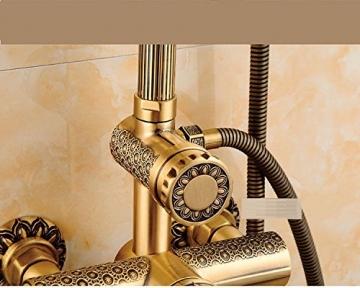 Gyps Faucet Waschtisch-Einhebelmischer Waschtischarmatur BadarmaturAlle Kupfer Antik Dusche Retro Set Dusche Badewanne Armatur Große Regendusche,Mischbatterie Waschbecken - 5