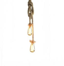Hängelampe Vintage Seilampe Pendelleuchte Hängeleuchte Lixada Lampenfassung 50cm E27 Fassung (ohne Birne) - 1