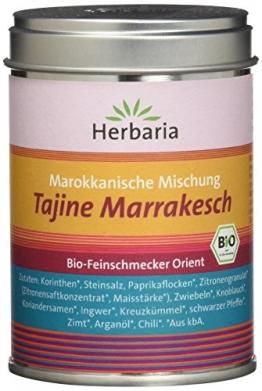"Herbaria ""Tajine Marrakesch"" Marokkanische Gewürzmischung, 1er Pack (1 x 100 g Dose) - Bio - 1"