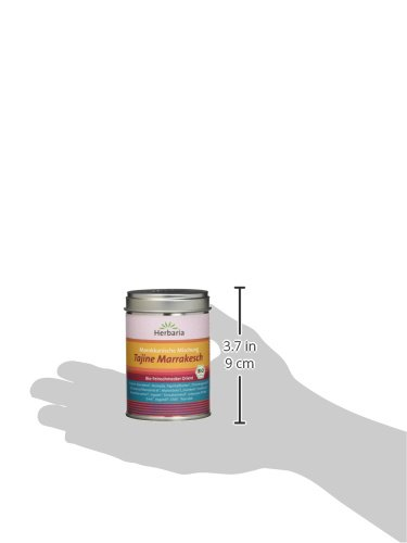 "Herbaria ""Tajine Marrakesch"" Marokkanische Gewürzmischung, 1er Pack (1 x 100 g Dose) - Bio - 4"