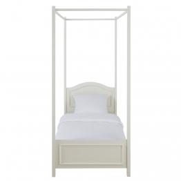 Himmelbett aus Holz, 90 x 190cm, weiß