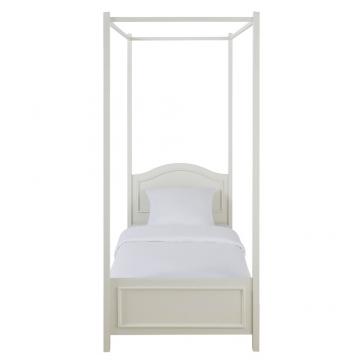 Himmelbett Aus Holz, 90 X 190 Cm, Weiß