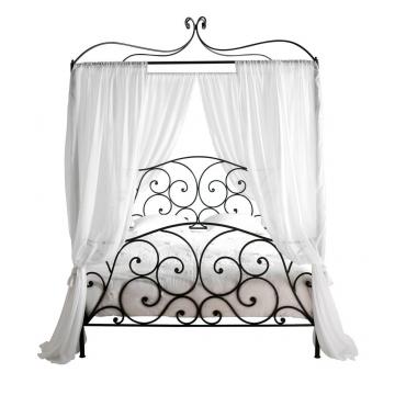 Himmelbett aus Stahl, 160 x 200, braun Sheherazad