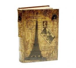 Hohles Buch Geheimfach PARIS EIFFELTURM Nostalgie Buchsafe 33cm