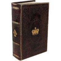 Hohles Buch mit Geheimfach Krone Lilie Antik-Stil Buchversteck Aufbewahrungsbox