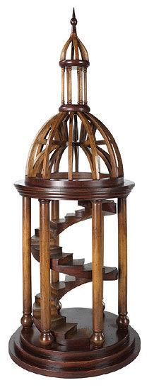 Holz-Architekturmodell ´Die Glockenturm-Treppe des Petersdoms´