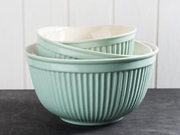 IB Laursen Schalensatz Mynte Hellgrün Keramik Schüssel Green TEA 3er Set Schalen Grün