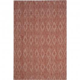 In & Outdoor Teppich Biarritz - Kunstfaser - Rot - 160 x 231 cm, Safavieh