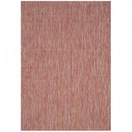 In & Outdoor Teppich Delano - Kunstfaser - Rot - 78 x 152 cm, Safavieh