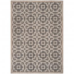 In & Outdoor Teppich Jade - Kunstfaser - Taupe / Weiß - 243 x 304 cm, Safavieh