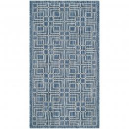 In & Outdoor Teppich Nantucket - Kunstfaser - Blau / Grau - 121 x 170 cm, Safavieh