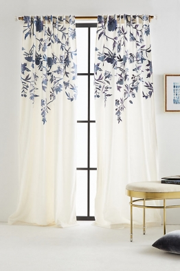Isa Bestickter Vorhang - Ivory