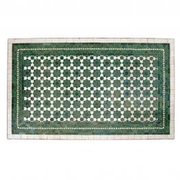 Kacheltisch, grün/weiß, L 120 cm, B 70 cm, H 73 cm